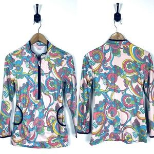 Womens Lilly Pulitzer XS Colorful 1/2 Zip Pullover